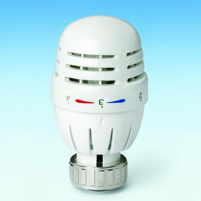 106Cn termostathoved, indbygget voksføler, temperaturlåsering, til ventiler serie 760P og 800P