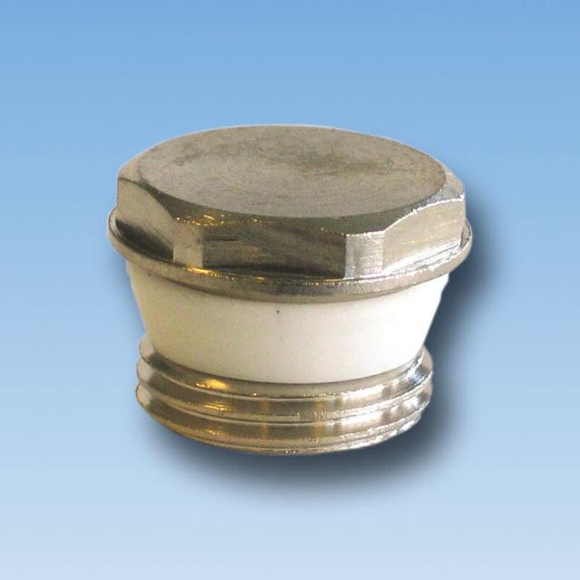 DE-069 Afslutningsprop forkromet med silikone profilring til radiator