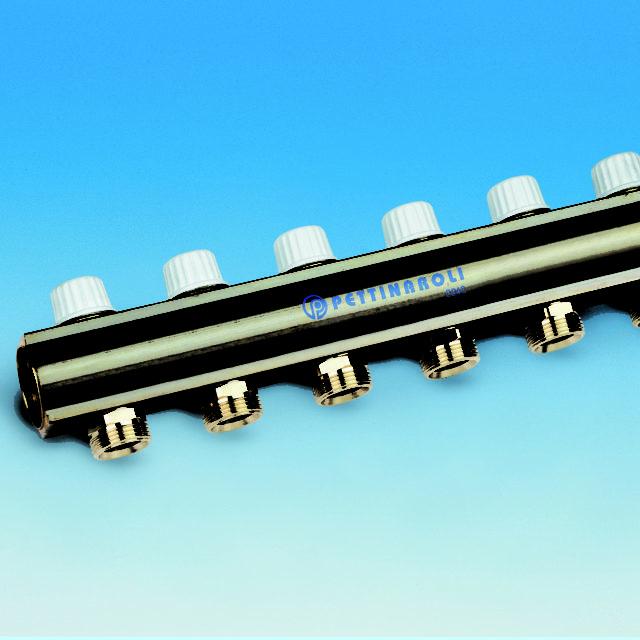 7035DM fordelerrør, manifold, præsamlet, integreret ventil, returløb, uden fittings