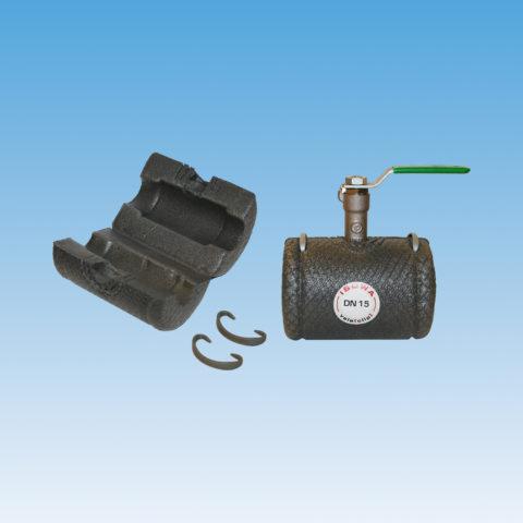 IS51 isolering, polyethylen, kuglehaner, inklusiv clips, nem montering