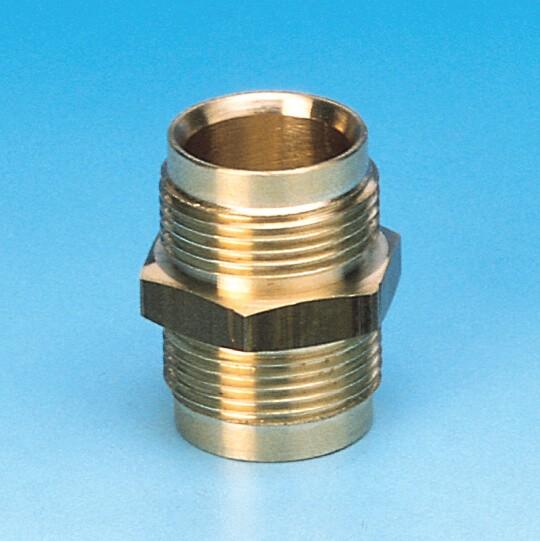 035/2 koblingsnippel, lige, til kobber og polyenthylen rør, 3015, 3525, 3625