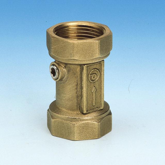188NDA kontraventil, vand, olie, og trykluft, afzinkningsfri messing, muffetilslutning lodret/vandret montering