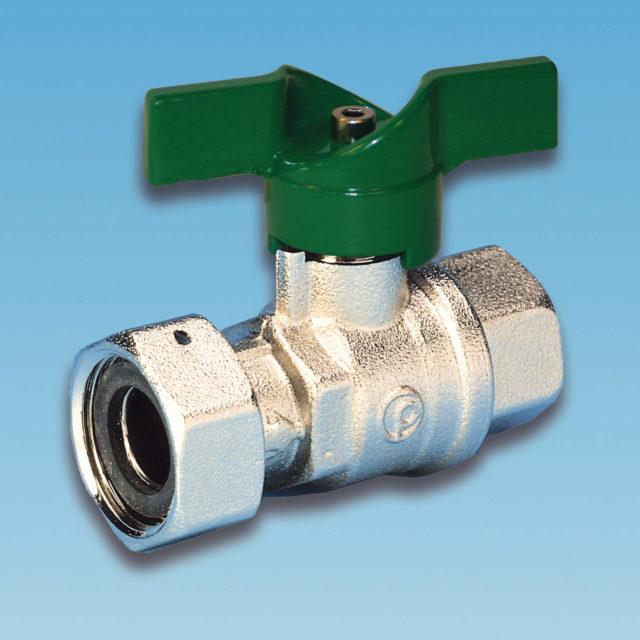 52METV kuglehane, omløber/muffe, grønt aluminium T-greb