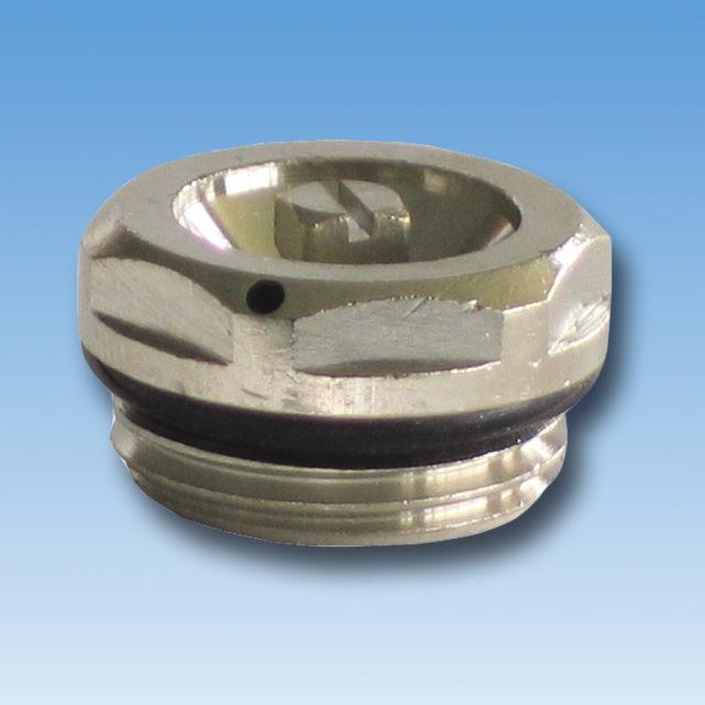 DE-016 Luftskrue forkromet med o-ring til radiator