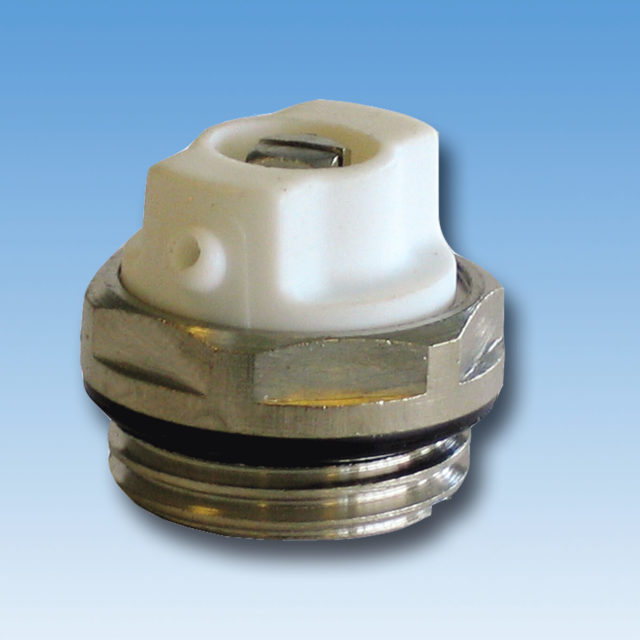 DE-044 Luftskrue forkromet med o-ring til radiator