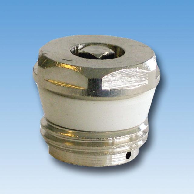 DE-071 Luftskrue forkromet med silikone profilring til radiator
