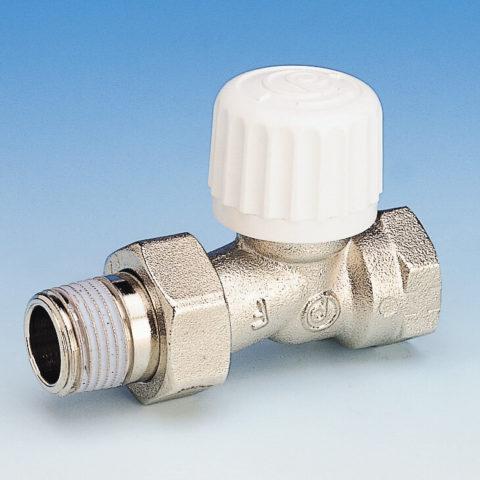 761DPR radiatorventil, ligeløbende, til termostat eller aktuator, indvendigt gevind, forniklet
