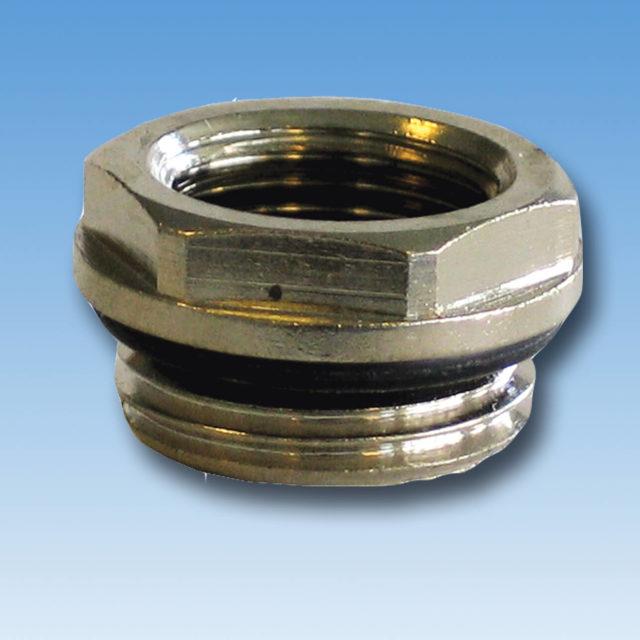 DE-017 Reduktion forkromet med o-ring til radiator