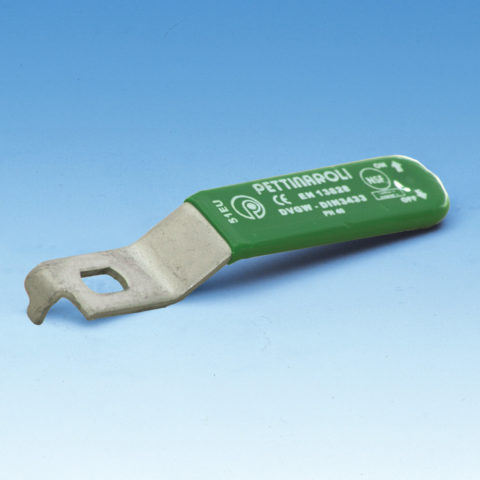 051tea stålhåndtag, til kuglehaner serie 50, grønt