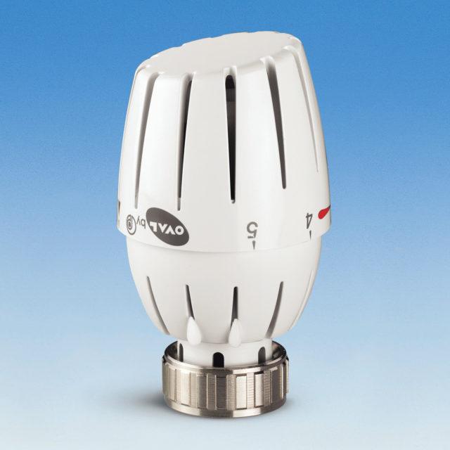 107L termostathoved, indbygget væskefyldt føler, til ventiler serie 760P og 800P, OVAL