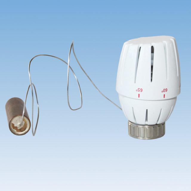 107LKIH termostathoved med anlægsføler, temperaturskala 40° – 65°C
