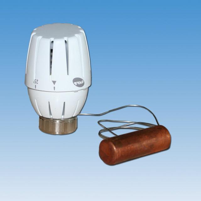 """107lkis termostathoved med anlægsføler, til parallelshunt 7021 til gulvvarme fordeler 1"""""""