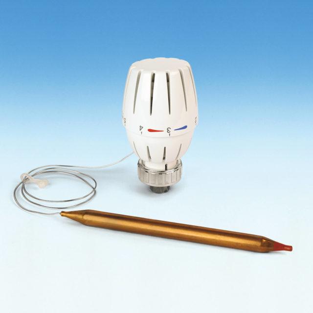 107LKIT termostathoved med dykrør til minishunt 1-kreds gulvvarmesystem