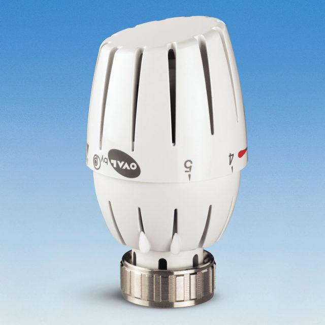 107LHN termostathoved, indbygget væskefyldt føler, temperaturlåsering, til Heimeier tilslutning M30X1,5