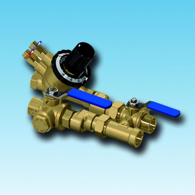 XT600 flushing bypass, strengreguleringsventil, filterball, afspærringsventil, integreret filter