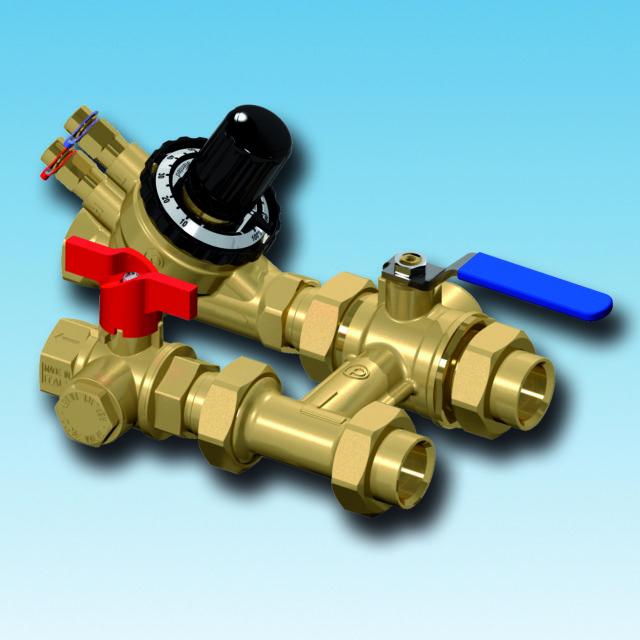 XT800 flushing bypass, strengreguleringsventil, filterball, afspærringsventil, integreret filter