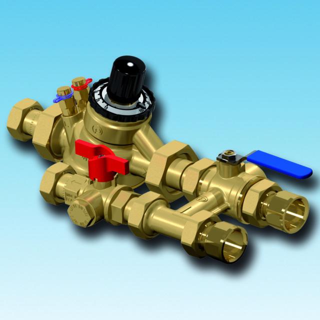 XT850 flushing bypass, strengreguleringsventil, filterball, afspærringsventil, integreret filter
