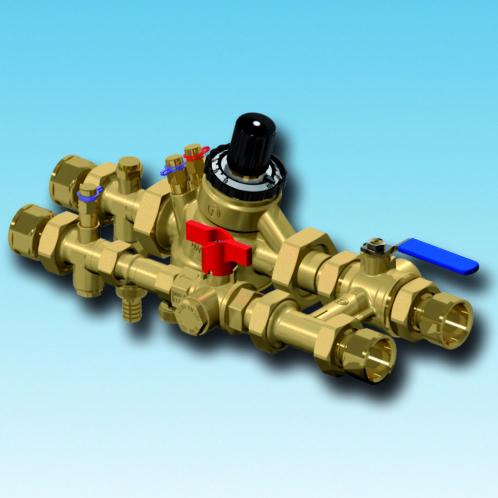 XT851 flushing bypass, strengreguleringsventil, filterball, afspærringsventil, integreret filter