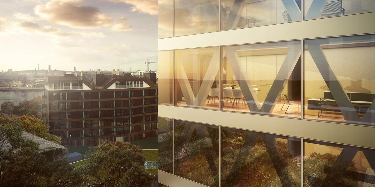 50 luksuslejligheder i Sfinxen på Islands Brygge