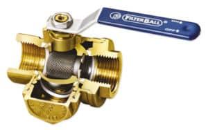 FilterBall® kuglehane indvendige konstruktion