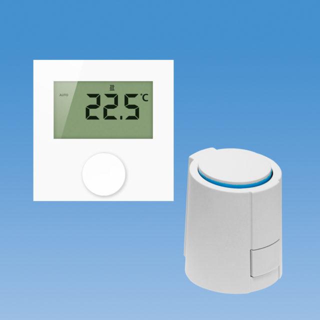 EC-32090-KD styringspakke, 1-kreds styreboks, gulvvarme, fortrådet, digital rumtermostat, 230V
