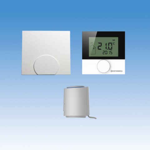 a220102-01k trådløst gulvvarmesystem COMFORT, trådløs, 230V, pakkeløsning, telestat, digital rumtermostat